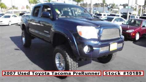 old toyota lifted 2007 used toyota tacoma prerunner lifted for sale in san