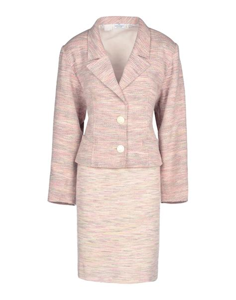 light pink suit womens valentino women s suit in pink lyst