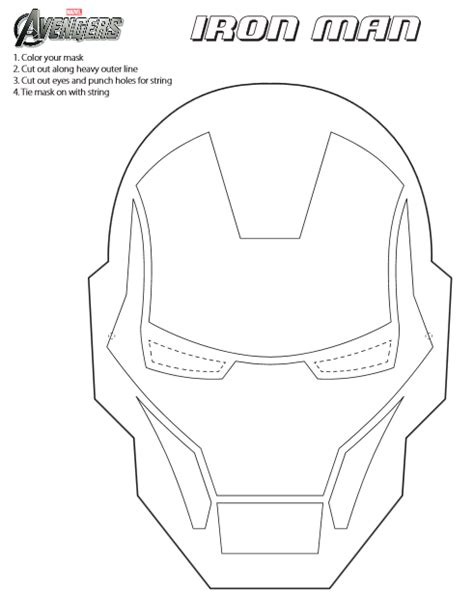 coloring page of iron man mask printable iron man mask to color ironman3event jinxy kids