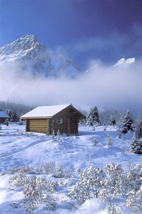winter log cabin desktop wallpaper winter log cabin wallpaper wallpapersafari