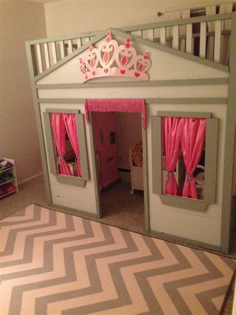 ana white cottage loft bed diy projects