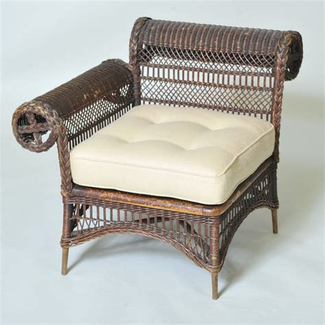 Antique Wicker Chair by Antique Wicker Corner Chair Elaine Phillips Antiques