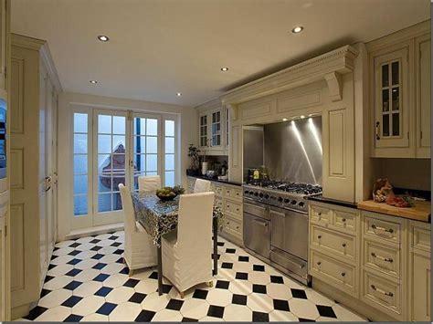 Kitchen : Luxury Black And White Kitchen Floor Tiles Black