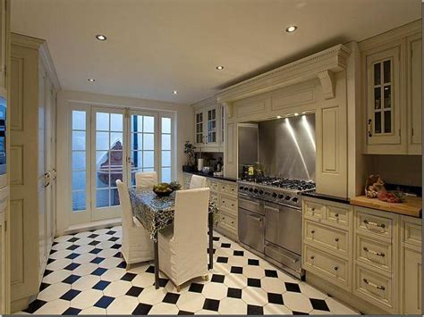 Kitchen : Luxury Black And White Kitchen Floor Tiles Black