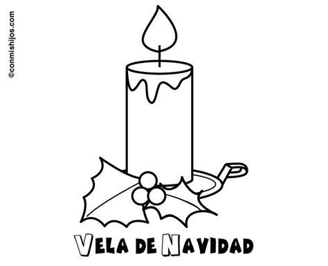 imagenes de velas navideñas para dibujar imprimir dibujo de vela con acebo de navidad