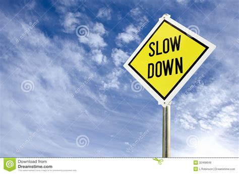 wallpaper slows down your computer slow down road sign stock image image of text down