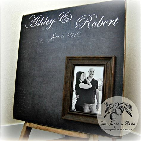 picture guest book wedding guest book wedding personalized picture frame by