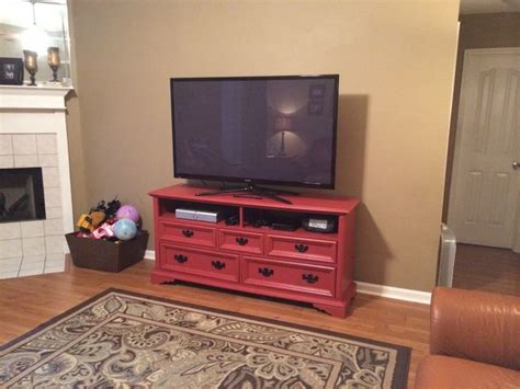 Dresser Made Into Tv Stand painted dresser made into a tv stand home decor