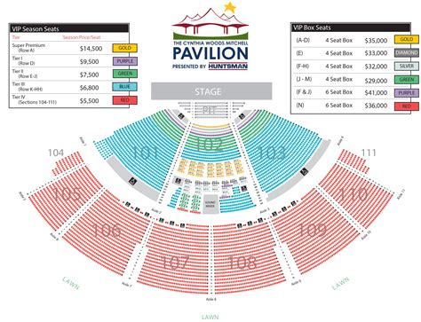 the woodlands pavilion seating chart cynthia woods mitchell pavilion seating chart the