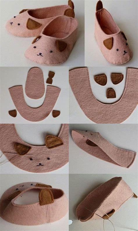 decorar zapatos bebe molde para hacer unos zapatos para bebe con fieltro 2