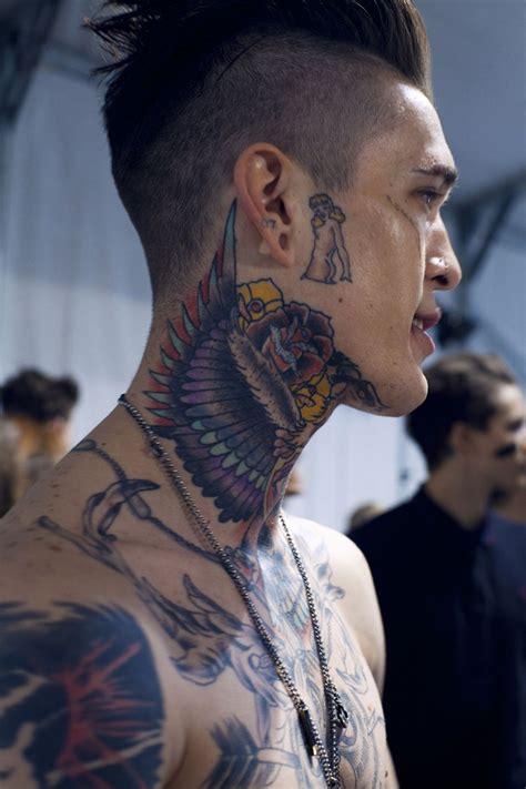 neck tattoo male model best tattoos for men part iii