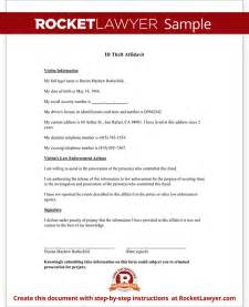 id theft affidavit form template with sample