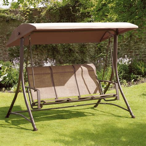 garden swinging seats garden swing seat havana bronze 3 seat swing