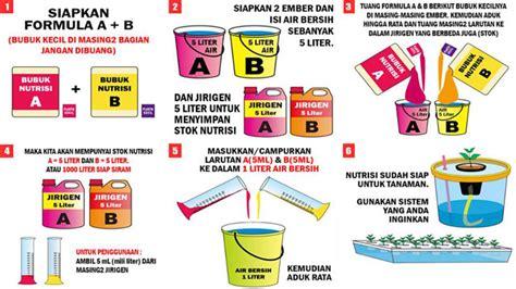 cara membuat larutan nutrisi hidroponik ab mix hydroponics cara mengaplikasikan nutrisi hidroponik ab mix rumah dan