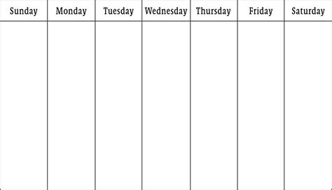monday through saturday calendar template blank calendars weekly blank calendar templates