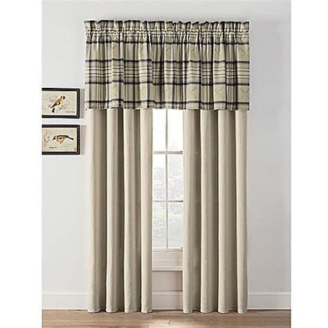 bed bath and beyond norfolk norfolk plaid window curtain panels and valance bed bath