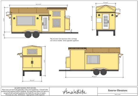 plan tiny house quartz tiny house