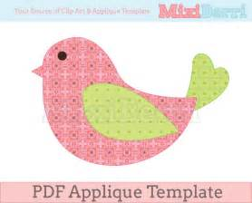 Applique Templates by Bird Applique Template Pdf Instant By Mixiberri