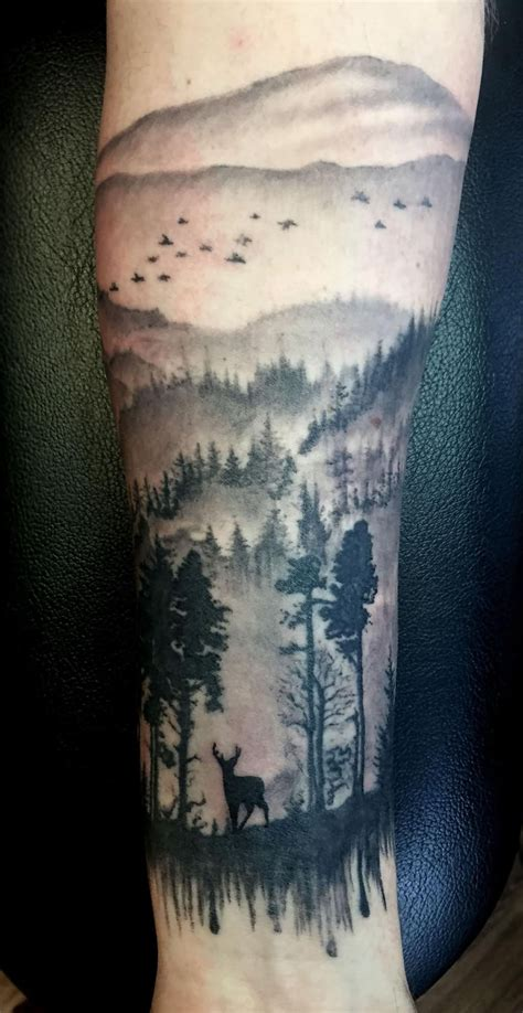 scenery tattoos beautiful scenery on back