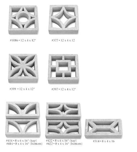 decorative blocks for garden wall mid century modern screenblock walls precast concrete