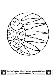 sun moon coloring pages coloring
