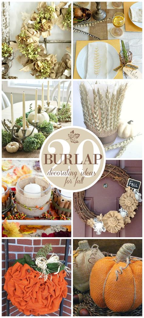 20 beautiful burlap fall decorating ideas sand and sisal - Burlap Fall Decorations