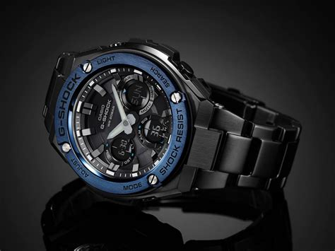Casio G Shock Gst S110bd 1a2dr Tough Solar Stainless Steel Band 200m promo g shock new g steel series