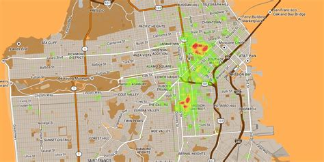 san francisco excrement map new map improves upon popular map of sf the bold