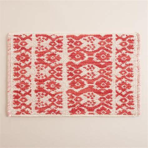 world market bath rugs coral ikat stripe woven bath mat world market