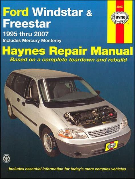 how to fix cars 2007 ford freestar regenerative braking ford windstar freestar mercury monterey repair manual 1995 2007 haynes