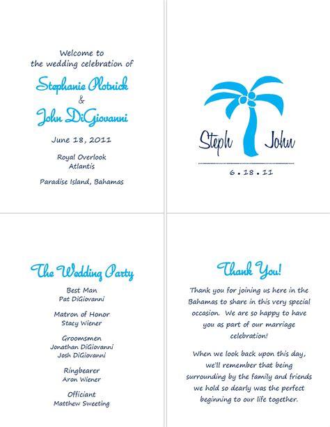 destination wedding thank you card template wedding programs complete diy forum passport invitation