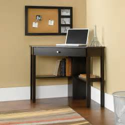Small Desk Walmart Sauder Beginnings Corner Computer Desk Cinnamon Cherry Walmart