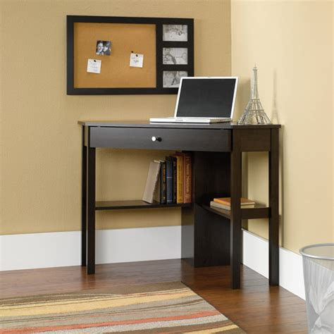sauder beginnings corner computer desk cinnamon cherry
