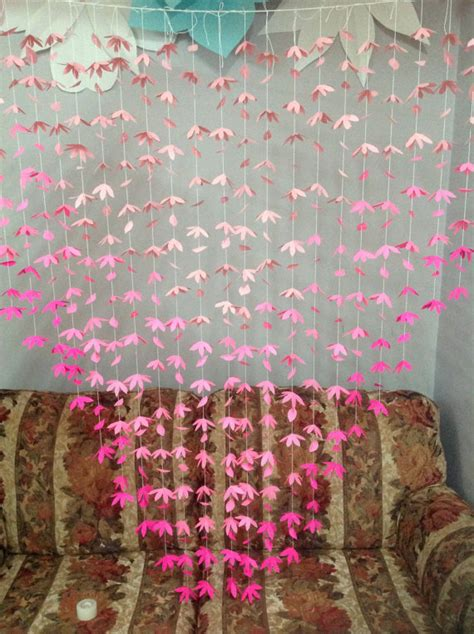 paper flower curtain 20 strands paper flower backdrop flower curtain flower