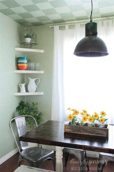 corner shelves in the kitchen dining room entry ideas