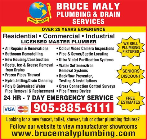 Plumbing And Drain Service by Bruce Maly Plumbing Drain Services Peterborough On