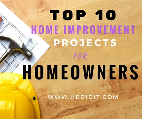 top 10 home improvement projects that increase appeal and