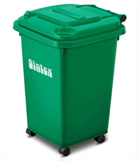 Home Improvement App sintex green dustbin 50 ltrs gbrw 05 04 with 4 wheels