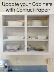Kitchen Cabinet Contact Paper update your cabinets with contact paper