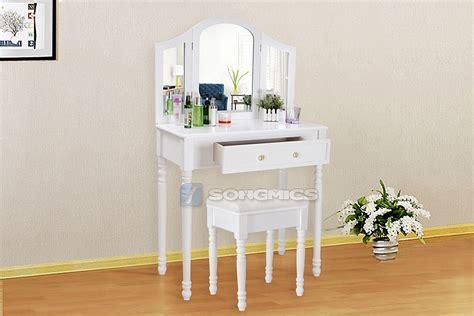 make up vanity hocker white dressing table set with stool mirror vintage bedroom