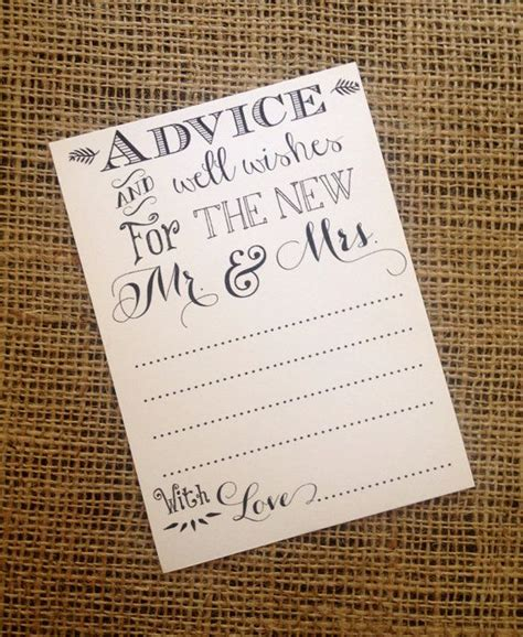 Wedding Wishes And Advice Cards by Best 25 Wedding Wishes For Card Ideas On