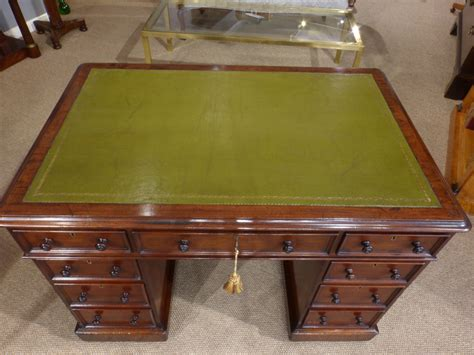 antique small desk small antique desk pedestal desk leather top desk