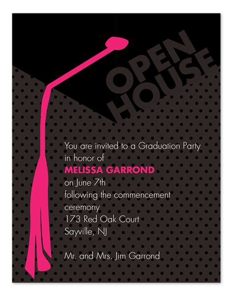 templates for graduation open house invitations top 14 graduation open house invitation for your