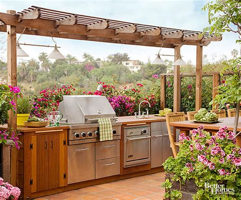 garden kitchen design planning for an outdoor kitchen better homes and gardens