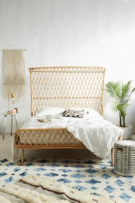 rattan bed frame curved rattan bed anthropologie