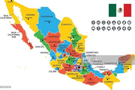 map of mexixo detailed vector map of mexico vector getty images