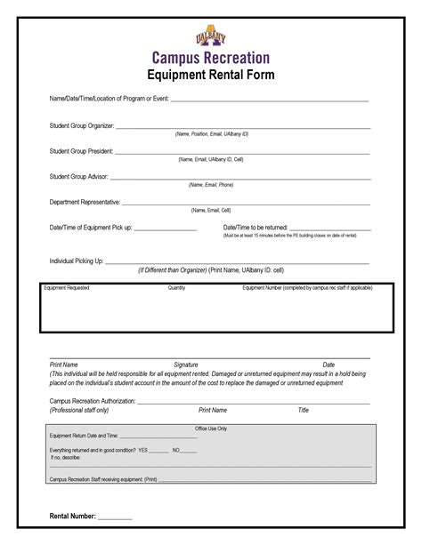 Facility Reservations Rentals University At Albany Suny Sports Facility Rental Agreement Template