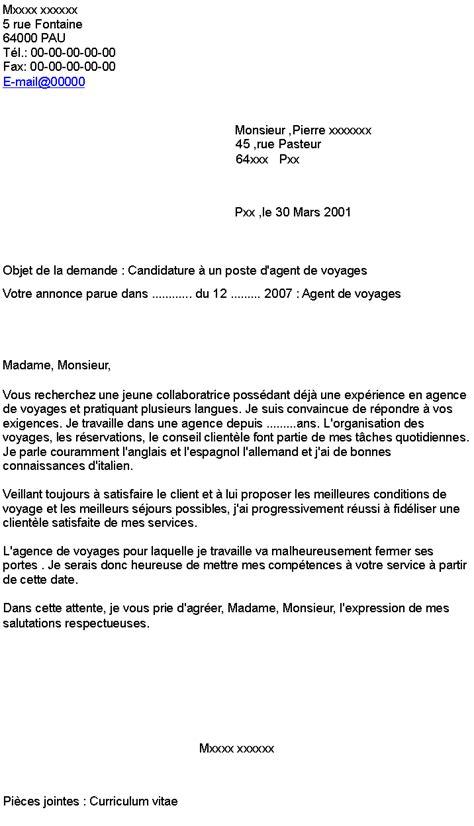 Lettre De Motivation De Vétérinaire Candidature 224 Un Poste D De Voyages