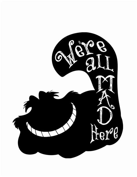 cool dude clock face quote phrases sayings vinyl sticker 11 25 14alice in wonderland free silhouette file5