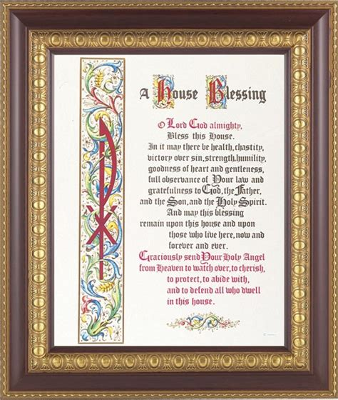 how to bless a room with a prayer a house blessing prayer framed print from catholic faith store 11 1 4 quot x 13 1 4 quot 126 frame